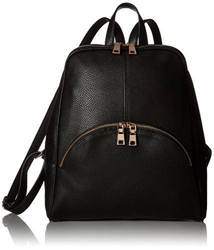 Black Leather Backpack - Scarleton Chic Casual Backpack H160801 - Black