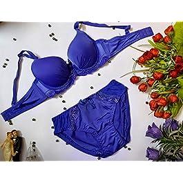 DEAMORE Women Pushup Bra Panty Lingerie Set Strapless Bra