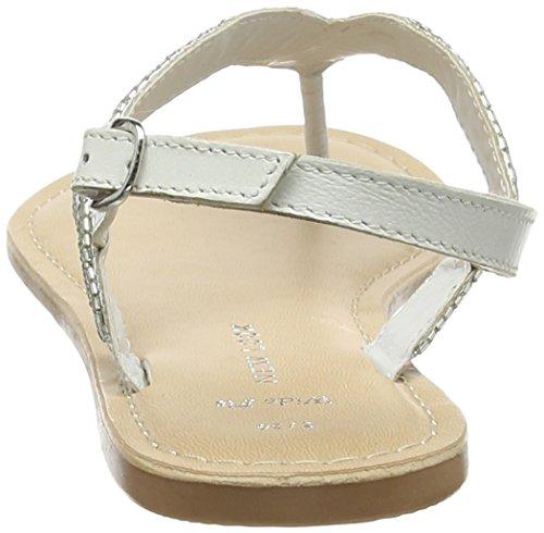 Wide con White 10 Sandalia New Blanco Faye Pulsera Mujer para Fit Look Z5Xw6