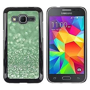 LECELL--Funda protectora / Cubierta / Piel For Samsung Galaxy Core Prime SM-G360 -- Glitter Moss Winter Dew Diamond --