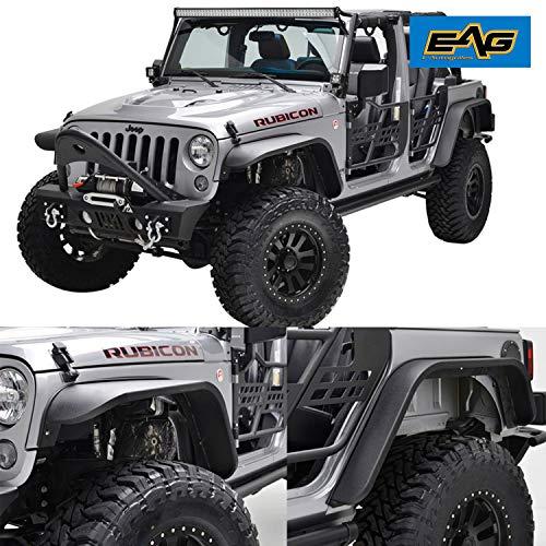 - EAG 07-18 Jeep Wrangler JK Front + Rear Fender Flares Steel