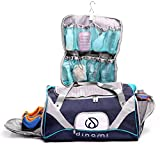 Travel Sports Duffel Bag Men & Women Detachable Shower Caddy & Deep Shoe Pocket