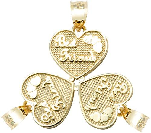Coeur Pendentifs Femme Or jaune 10K Best Friends cassable Pendentif Cœur