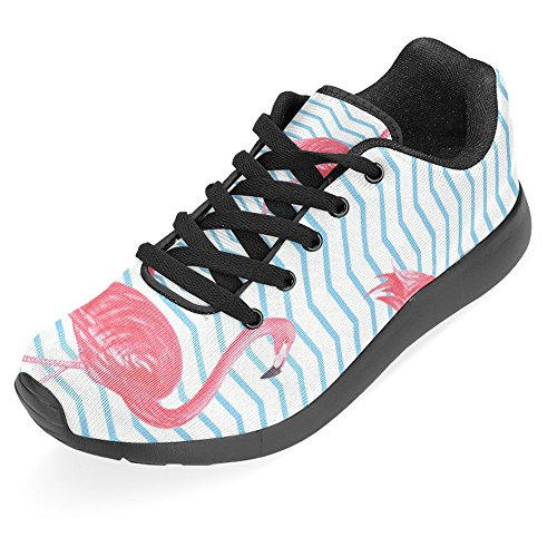 Interestprint Womens Jogging Running Sneaker Leggero Go Easy Walking Casual Sport Sport Scarpe Da Corsa Beautiful Animal Flamingo Rosa Multi 1