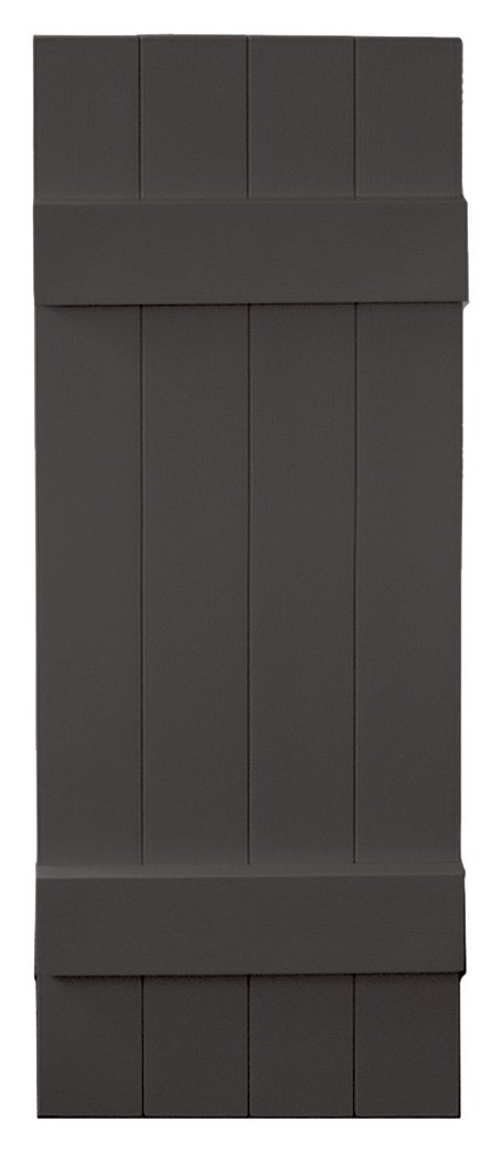Vantage 8214039018 14X39 4 Board Joined BNB Shutter/Pair 018, Charcoal by Vantage (Image #1)