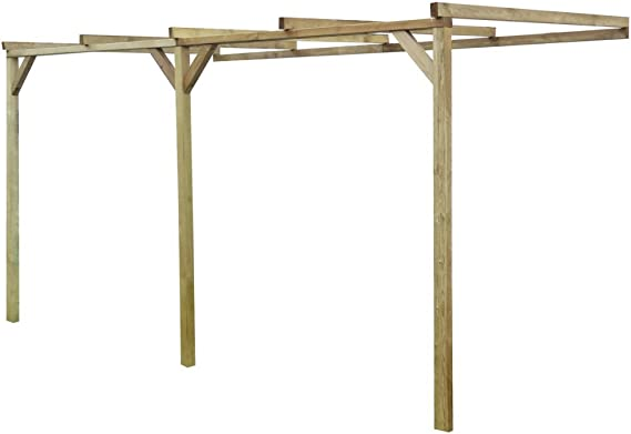 Festnight Pérgola de Madera para Pared 2 x 4 x 2, 2 m: Amazon.es: Jardín