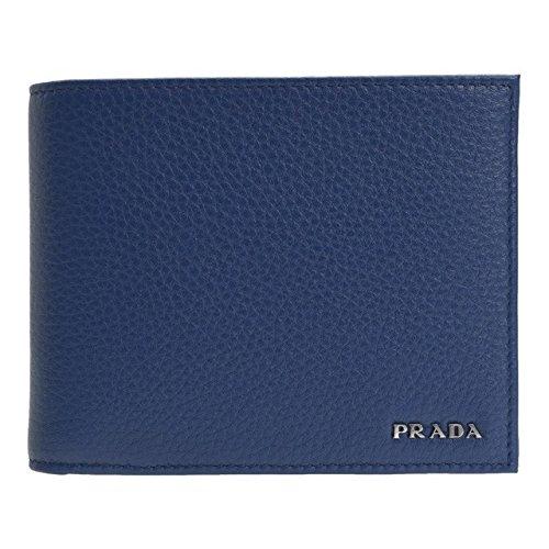 (プラダ) PRADA 財布 二つ折り メンズ ブルー レザー 2mo002 ブランド [並行輸入品] B0797RNW4G