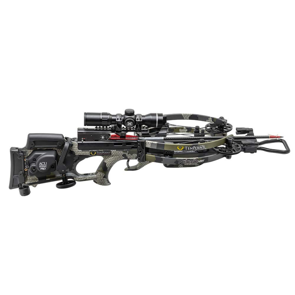 Tenpoint 470 FPS Nitro XRT Elite Hunter s Crossbow Package with 12 Arrows, Broadheads, EVO-X Marksman Scope, Sling, STAG Hard Case and ACUdraw PRO Cocking Device