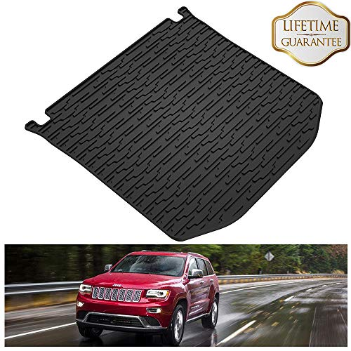 Jeep Cargo Mat - KIWI MASTER Rear Cargo Mat Liner Compatible for 2011-2019 Jeep Grand Cherokee All Weather Protection Floor Slush Mats,1 Pcs,Black
