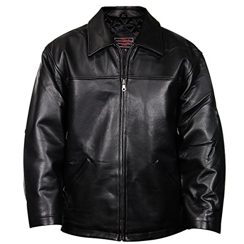 Zipper Leather Jacket Car Coat - 8