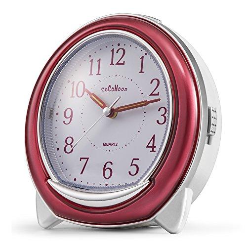 Quartz Alarm Clock, COCOMOON Analog Clock,With Loud Mechanic