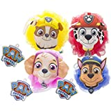 Nickelodeon Paw Patrol Childrens Large Shower Sponge Pouf (4 Pack) - Bath Loofah Luffa Loufa - Mesh Back and Body Scrubber - Exfoliate, Cleanse and Soothe Skin - Fun Kids Set for Boys and Girls