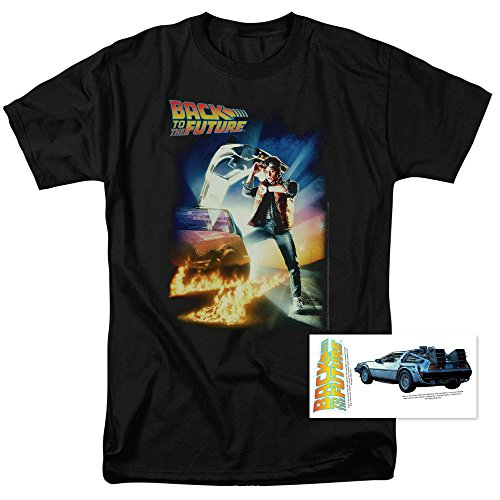 Popfunk Back To The Future Marty McFly T Shirt & Exclusive Stickers (Large) (Collectible Tees)
