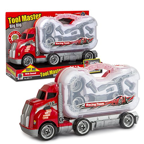 Big Daddy Big Rig Tool Master - Transport Toy Truck Carrier With Tools To Take Apart, Construct & Build. Get Your Child This Educational Truck.