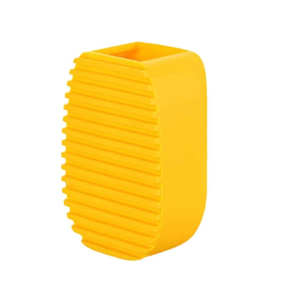 Cleaning Brush by Vibola Multi-Function Creative Flexible Hand Scrub Washing Silica Gel Washboard Cleaning Brush Mini (A-Yellow)