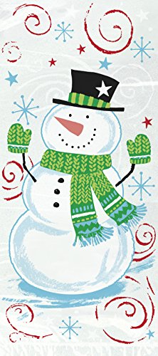 Snowman Swirl Holiday Cellophane Bags