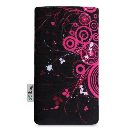 Stilbag Etui 'MIKA' pour Apple iPhone 3Gs - Dessin: Pink Loops