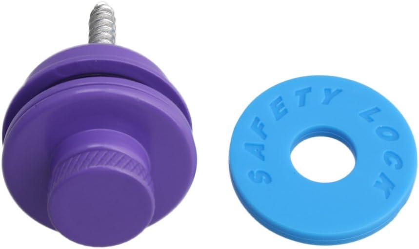 Lovermusic Purple Metal Anti-slip Guitar Strap Lock Button Buckle for Electric Guitar Bass Universal