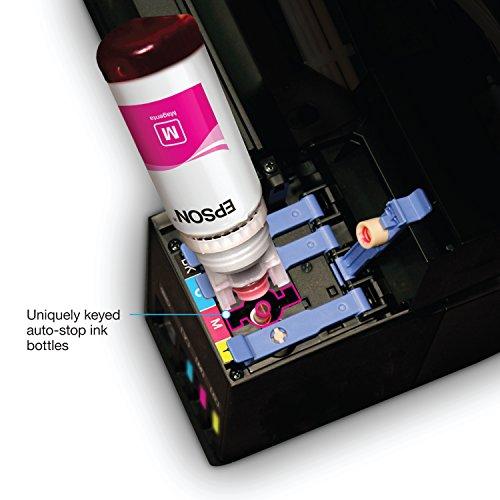 Epson Expression ET-3700 EcoTank Impresora todo en uno, a color, inalámbrica; impresora SuperTank con escáner, copiadora y Ethernet