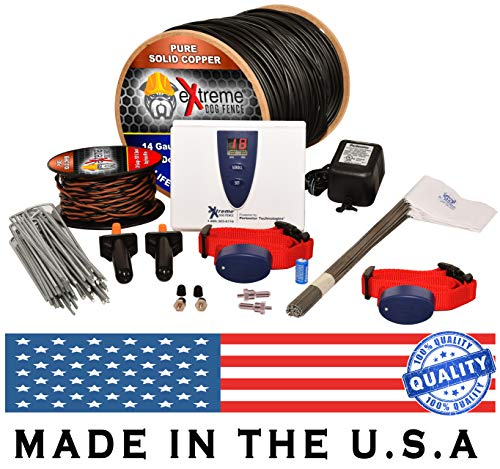 Underground Electric Dog Fence Ultimate - Extreme Pro Dog Fence System for Easy Setup and Maximum Longevity and Continued Reliable Pet Safety - 2 Dog | 500 Feet Pro Grade Dog Fence Wire