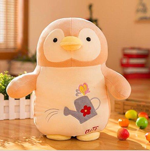 SunnyGod Plüschtiere Adorable Pingouin Peluche Peluche Peluche Animal Animé Cadeau (Beige, 40cm)