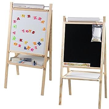 toys4u - Pizarra con rollo de papel y accesorios, 98 x 48 cm ...