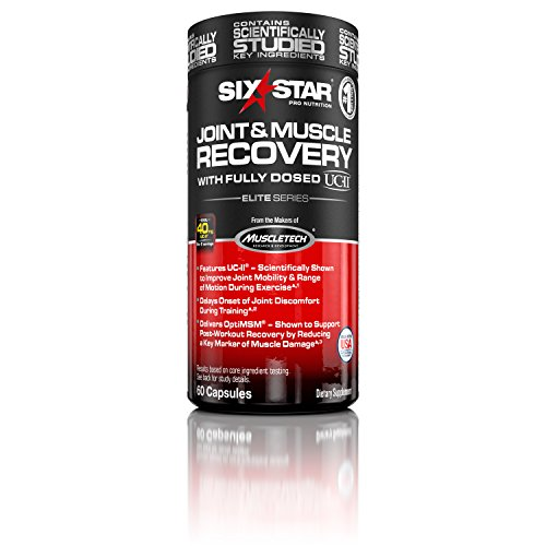 Pro Joint Formula (Six Star Pro Nutrition Joint and Muscle Recovery Supplement with Fully Dosed UC-II, 60 capsules)