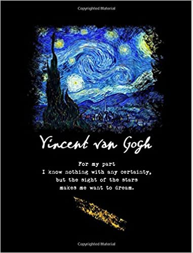 starry night poem vincent van gogh quote composition notebook