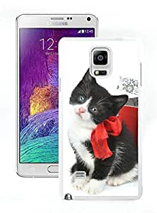 Special Custom Made Christmas Cat White Samsung Galaxy Note 4 Case 27