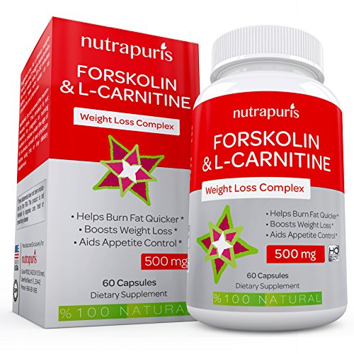 Optimal Forskolin with L-Carnitine Weight Loss Supplement 60 Capsules Pure Coleus Forskohlii Powder 500mg per Serving Fat Burner Maximum Energy to Enhance Physical Performance 100% Guarantee!
