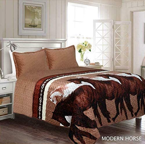 Western Rustic Star Horse Bedspread-Comforter 3pc Set-FAST SHIPPING!