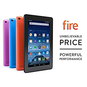 "Fire Tablet, 7"" Display, Wi-Fi, 8 GB (Magenta) - Includes Special Offers"