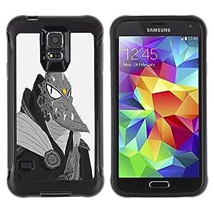 LASTONE PHONE CASE / Suave Silicona Caso Carcasa de Caucho Funda para Samsung Galaxy S5 SM-G900 / Monster Lizard Man Dragon Ufo Fire Alien