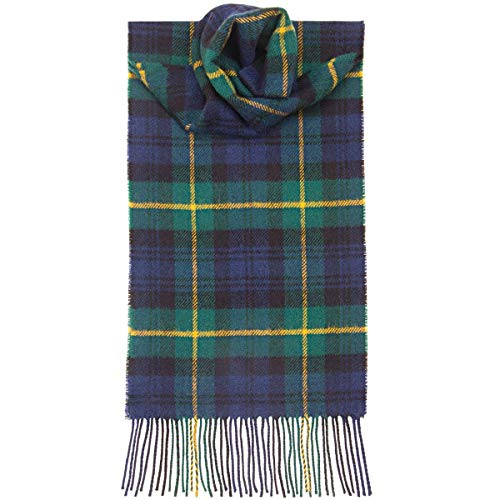 USA Kilts Gordon Modern Tartan Wool Scarf Made in Scotland