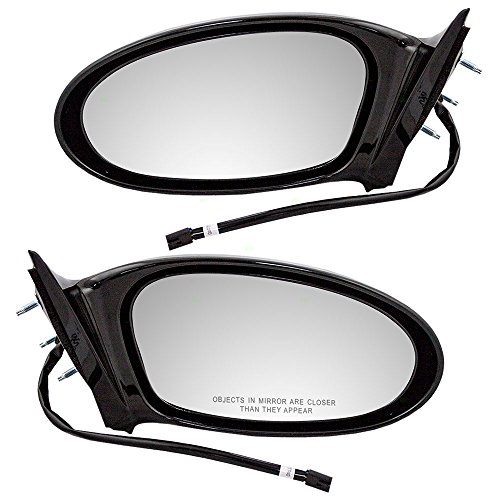 Driver and Passenger Power Side View Mirrors Single Post Replacement for Pontiac Grand Am 22724872 22724871 AutoAndArt