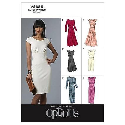 Vogue Patterns V8685 - Patrones de costura para vestidos de mujer(talla EE: 44