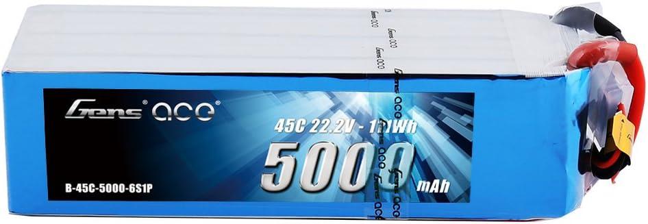 Bateria Gens ace 6S 5000mAh 45C 22.2V LiPo EC5 Plug