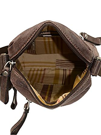 Sacoche bandouli/ère en cuir vachette vieilli ref/_ast33064 Arthur /& aston