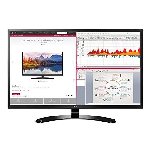 2018 LG Professional 32-Inch Full HD 1920 x 1080 IPS Monitor with HDMI, Display Port, D-Sub, On-Screen Control, Screen Split 2.0, Reader Mode, VESA Wall-Mount, Black