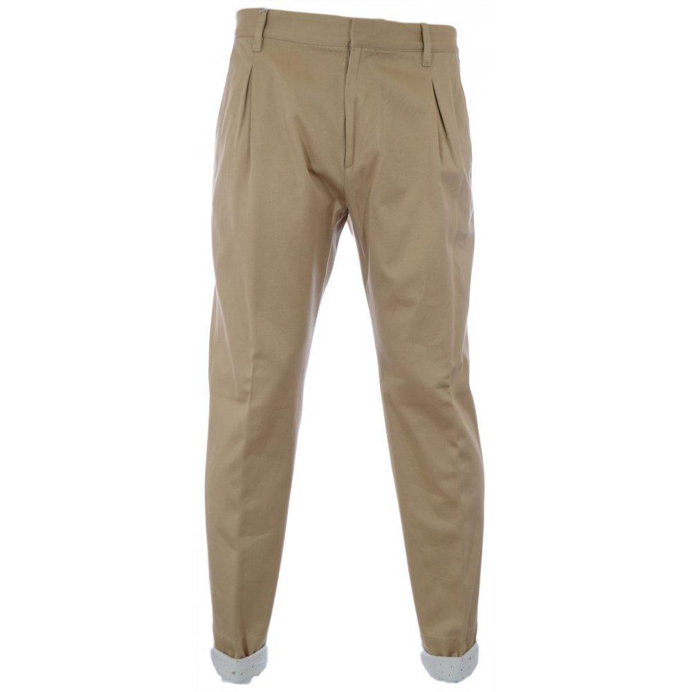 Vivienne Westwood Men's Washed Twill Trouser, Beige, Medium