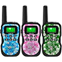 3-Pack Caferria 22 Channel 2 Way Radio 3 Miles Range Kids Walkie Talkies