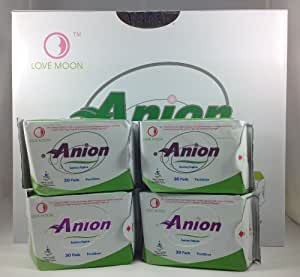 Winalite Love Moon Anion Sanitary Napkin Pantiliner Pad Set(16 Packs X 30 Pads)