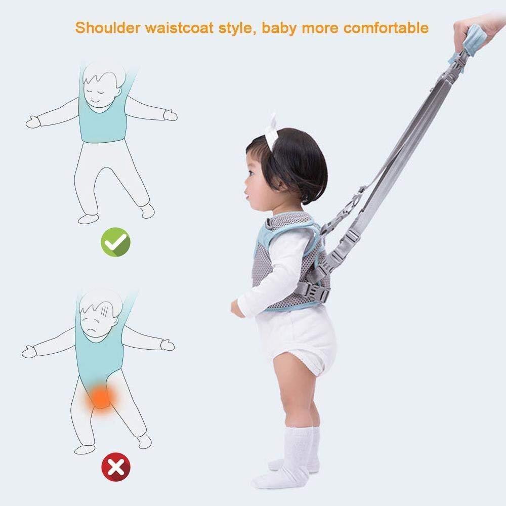 Baby-Tragetasche Kindertrage Handgehaltener Baby-Gehgurt for Kleinkinder 4-IN-1-Funktioneller Sicherheits-Gehassistent mit abnehmbarem Schritt Lernhilfe zum Aufstehen und Gehen G/ürtel und L/ätzchen