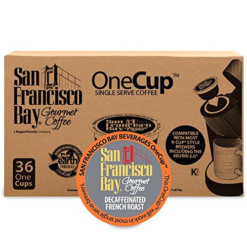 San Francisco Bay OneCup, Decaf French Roast, 36 Count- Single Serve Coffee, Compatible with Keurig K-cup - San Retailers Francisco