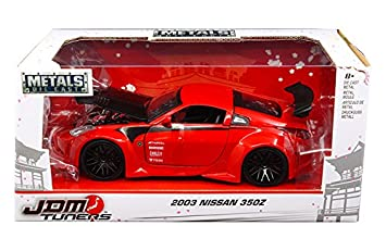Jada 99110 2003 Nissan 350Z Red JDM Tuners 1/24 Diecast Model Car