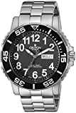 CROTON Men's CA301281SSBK Analog Display Chinese Automatic Silver Watch