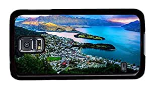 Hipster Samsung Galaxy S5 Cases pretty queenstown new zealand wakatipu lake PC Black for Samsung S5