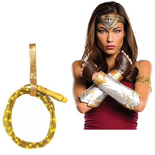 Batman vs Superman: Dawn of Justice - Wonder Woman Accesory Kit: Deluxe Adult Set and Light Up Lasso -