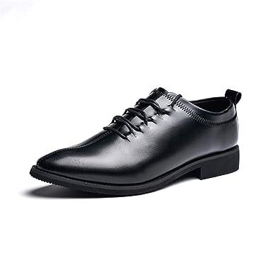2b6221296b31 Amazon.com: Hilotu Men's Fashion Flat Oxford Dress Shoes Comfort ...