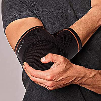 Elbow Brace Compression Support Sleeve for Tendonitis, Tennis Elbow, Golf Elbow Treatment Workout for Men & Women (1 Pair)